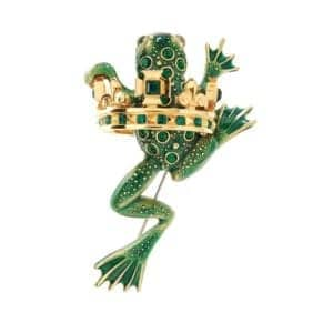 contemporary art jewellery brooch frog prince simon harrison designyard