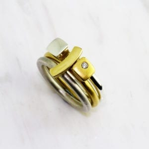 contemporary rings 18k yellow gold diamond silver paul finch designyard