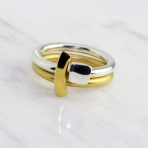 contemporary rings designyard silver yellow gold paul finch