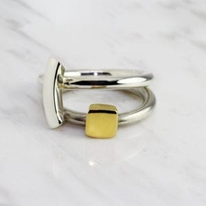 contemporary rings silver yellow gold paul finch designyard