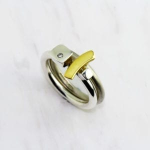contemporary rings yellow gold silver diamond paul finch designyard
