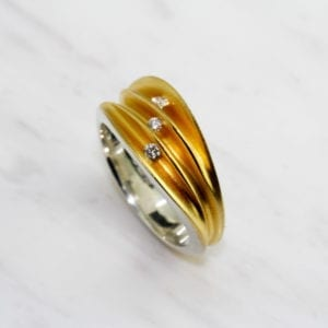 contemporary diamond ring yellow gold silver paul finch engagement designyard