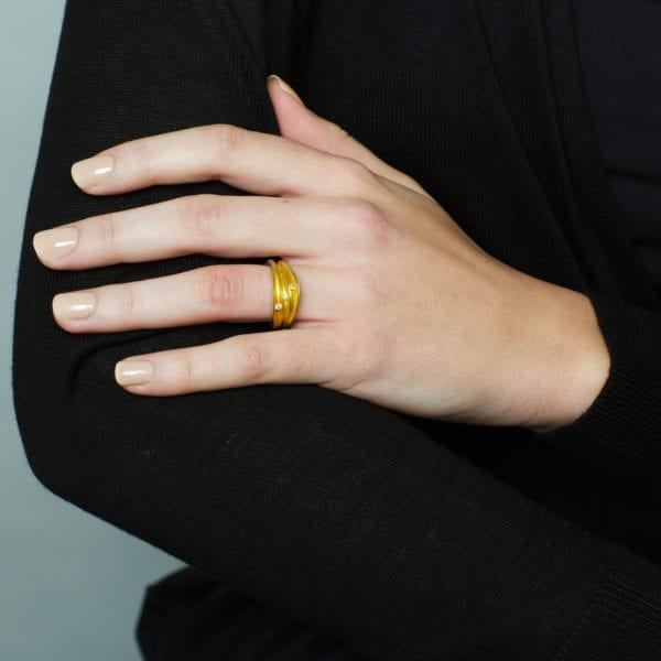 contemporary diamond ring yellow gold silver paul finch engagement designyard