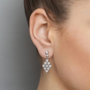 contemporary jewellery art diamond drop earrings designyard dublin ireland
