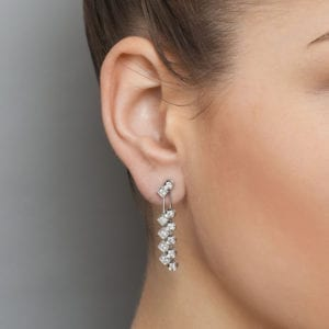 contemporary jewellery art diamond earrings drop designyard dublin ireland ronan campbell
