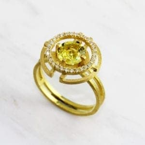 contemporary design jewellery designyard dublin ireland diamond ring shimell and madden yellow sapphire engagement ring