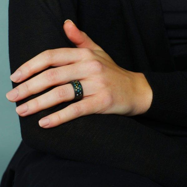 contemporary carbon fibre jewellery art design designyard dublin ireland