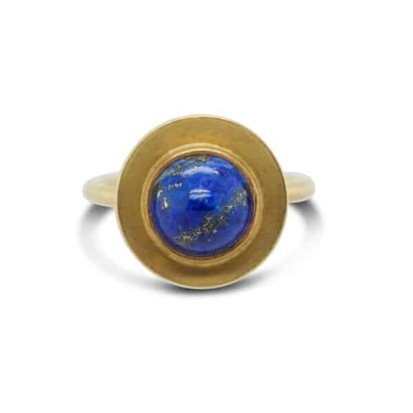 catherine mannheim 18k yellow gold lapis lazuli ring designyard contemporary jewellery gallery dublin ireland paris london belfast monaco manhattan dubai bahrain uae sheen falls co kerry adare manor hotel co limerick hong kong shanghai