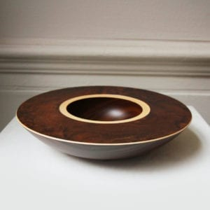 contemporary wooden bowl art sculpture design craft walnut ziricote sycamore bowl designyard dublin ireland mark hanvey