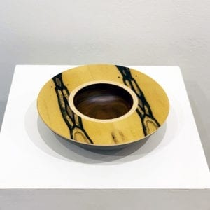 luxury art bowl wood walnut white ebony walnut design sculpture designyard contemporary dublin ireland mark hanvey wooden bowl