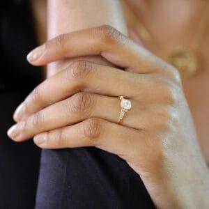 ronan campbell 18k rose gold edvvardiani handmade cushion diamond engagement ring designyard contemporary jewellery gallery dublin ireland handmade jewelry design designer irish jewellers shop