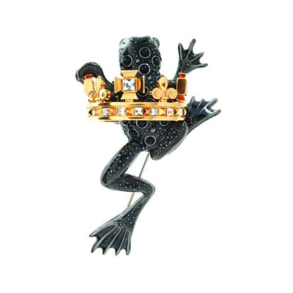 contemporary jewellery art design craft sculpture designyard dublin ireland siomon harrison frog prince brooch