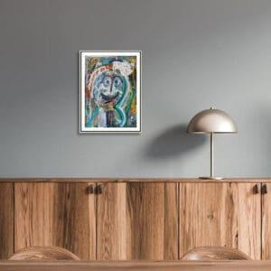 pigsy art broken cortex framed print designyard contemporary art gallery dublin ireland