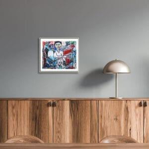 pigsy art extra ordingary crucified by you framed print designyard contemporary art gallery dublin ireland