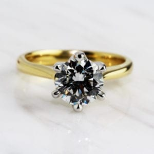 solitaire diamond engagement ring designyard dublin ireland ronan campbell round brilliant gia certified
