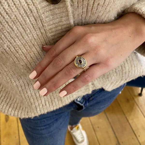 bergsoe ruby diamond pave cocktail ring designyard dublin ireland contemporary exclusive jewellery gallery