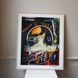 contemporary art design jewellery framed print designyard dublin ireland pigsy cyberpunks