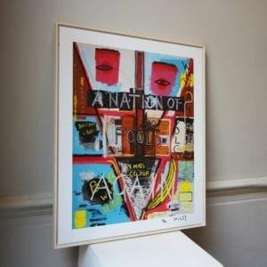 contemporary art design framed prints designyard dublin ireland banksy bambi jean-michel basquiat street art los angeles santa monica saatchi monaco st tropez