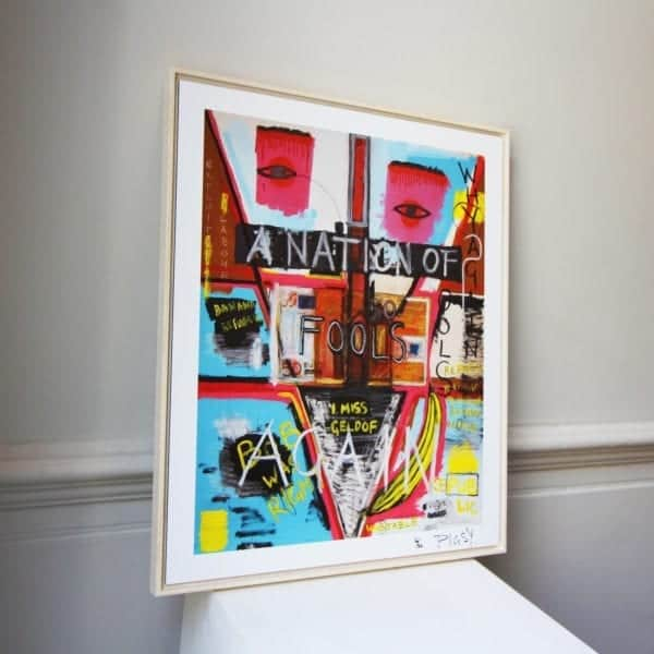 contemporary art print pigsy a nation of fools again designyard dublin ireland