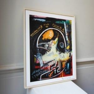 framed print contemporary art pigsy cyberpunks designyard