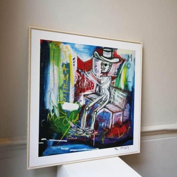 contemporary art framed print designyard dublin ireland pigsy mo laoch