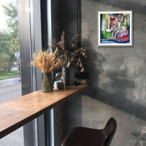 pigsy art framed print mo laoch designyard contemporary art gallery dublin ireland