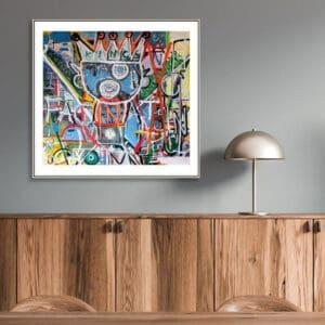 pigsy art i find you fascinating large framed print designyard contemporary art gallery dublin ireland