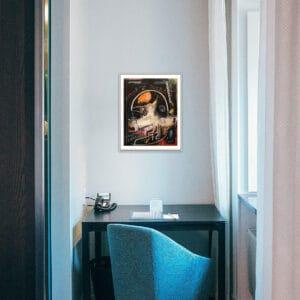 pigsy framed print cyberpunks large designyard contemporary art gallery dublin ireland