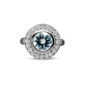 ronan campbell 18k white gold aquamarine diamond ring designyard contemporary jewellery gallery
