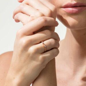 niessing 18k rose gold artist ring designyard contemporary jewellery gallery dublin ireland