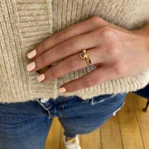 bergsoe seafire ruby sapphire diamond yellow gold ring designyard dublin ireland