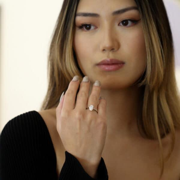 designyard 1.70ct platinum oval lab grown diamond engagement ring dublin ireland
