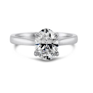 designyard 1.70ct platinum oval lab grown diamond engagement ring dublin ireland