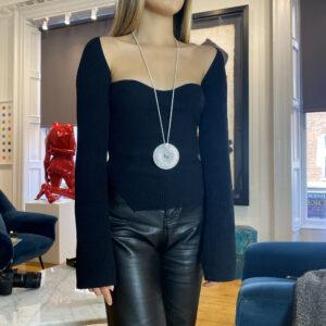 henrich denzel platinum diamond aquamarine discus necklace 2127ct designyard dublin ireland contemporary fine jewellery gallery