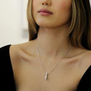 paul finch sterling silver rectangular ingot diamond pendant designyard contemporary jewellery gallery dublin ireland handmade