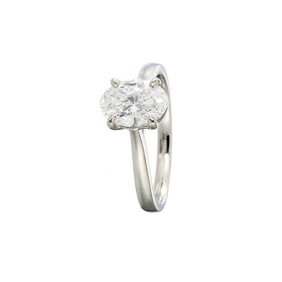 Engagement Rings 1 00ct Oval Lab Grown Diamond Engagement Ring Designyard