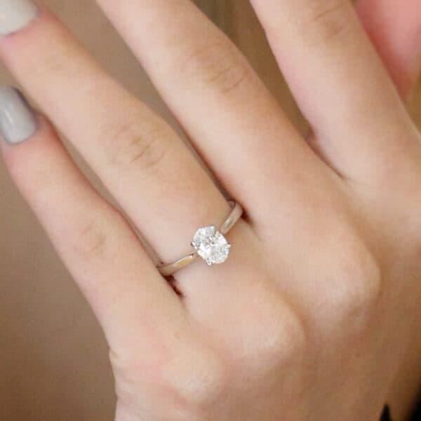 platinum 1ct oval diamond lab grown designyard contemporary jewellery gallery dublin ireland