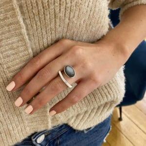 angela hubel silver moonstone laguna ring designyard contemporary jewellery gallery dublin ireland paris rome milan new york london sheen falls co kerry adare manor co limerick belfast