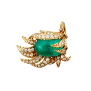 18k yellow gold pierre sterle emerald diamond ring designyard fine jewellery gallery dublin ireland collecter dealer vintage antique jewellery rare dubai uae hong kong paris rome milan venice adare manor co limerick sheen falls co kerry manhattan the hamptons new york la miami stylist historian