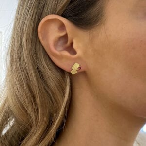 catherine mannheim 18k yellow gold amethyst pink tourmaline earrings designyard contemporary jewellery gallery dublin ireland dubai shanghai bejing tokyo hng kong manhattan belfast sheen falls co kerry adare manor co limerick paris rome venice italy