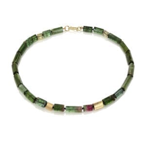 catherine mannheim contemporary jewellery 18k yellow gold green tourmaline watermelon necklace designyard fine jewellery dublin ireland monaco fine jewellery manhattan new york paris rome zurich geneva geneve lisbon miami the hamptons adare manor co limerick dubai