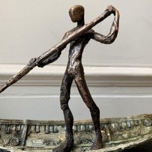 clodagh redden bronze sculpture charon the ferry man designyard dublin ireland contemporary sculpture gallery