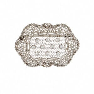 platinum diamond brooch buccelati designyard fine jewellery gallery dublin ireland italy italian london rome venice paris new york manhattan the hamptons oslo geneva zurich paris uae dubai hong kong shanghai tokyo singapore france antique