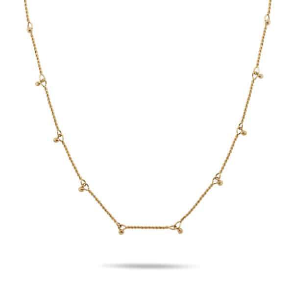 neeltje huddleston slater 14k yellow gold dainty twisted bar necklace designyard contemporary jewellery gallery dublin ireland handmade jewelry design designer irish jewellers shop