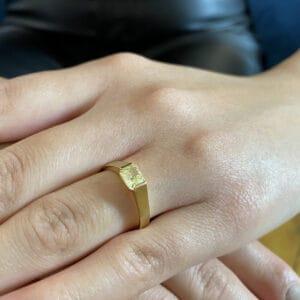 ronan campbell gia certified fancy yellow diamond alternative engagement ring internally flawless radiant designyard contemporary jewellery gallery dublin ireland