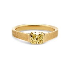 ronan campbell gia certified fancy yellow diamond engagement ring internally flawless radiant designyard contemporary jewellery gallery dublin ireland
