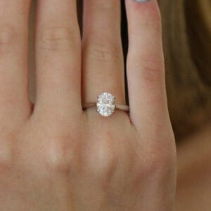 designyard platinum lab grown oval diamond engagement ring designyard contemporary jewellery gallery dublin ireland