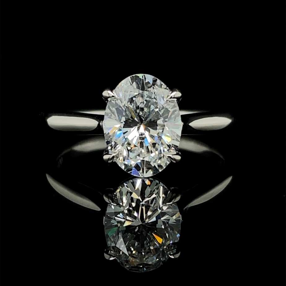 designyard platinum 2.02ct e si1 lab grown oval diamond engagement ring dublin ireland