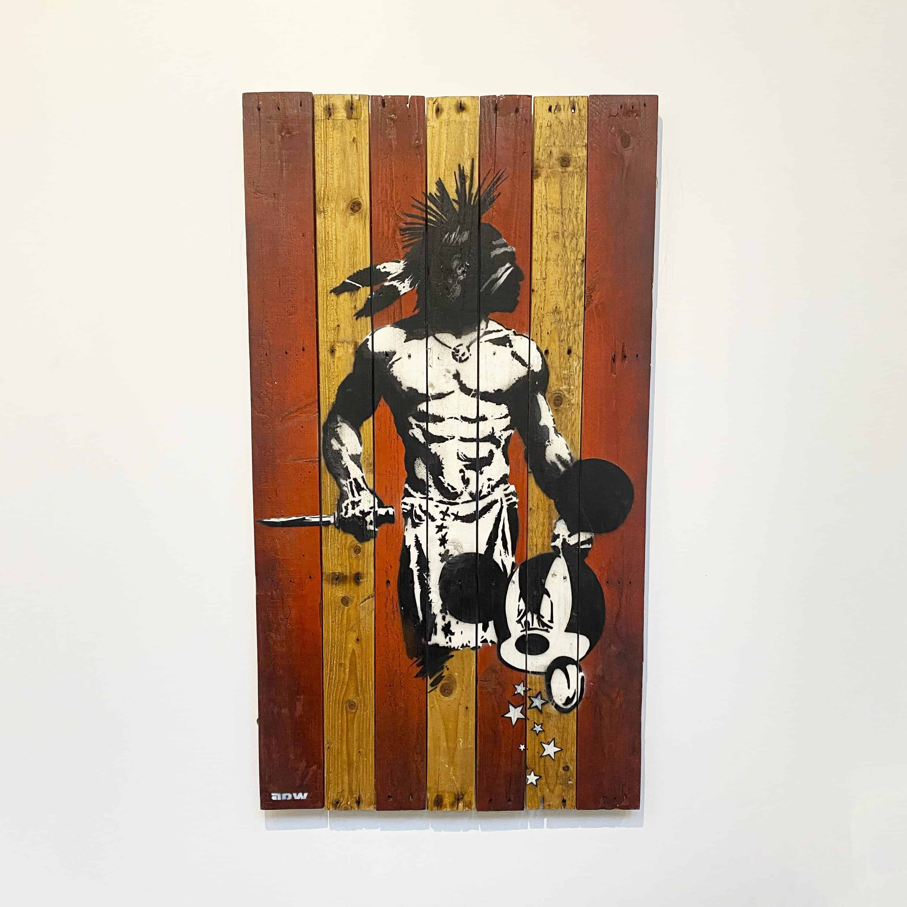 adw art original scalped on wood designyard contemporary art gallery dublin ireland