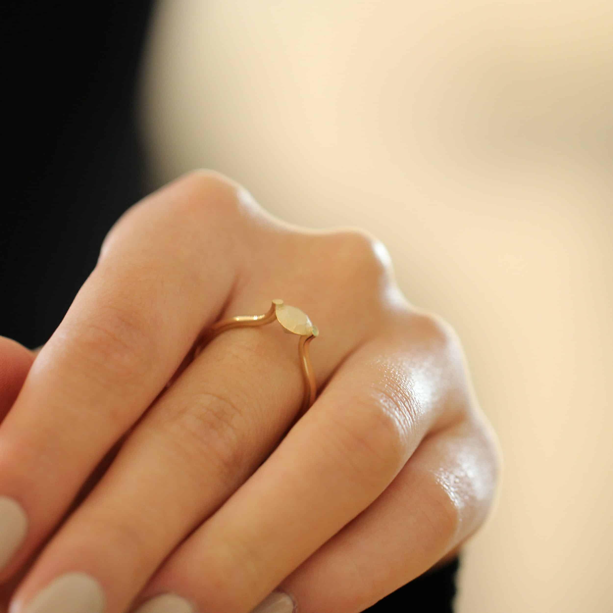 cardillac 14k yellow gold promise ring designyard contemporary jewellery gallery dublin ireland